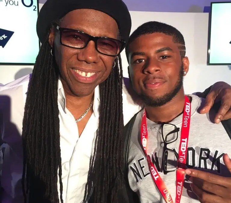 JAYO meets Nile Rodgers at TedxTeen in London