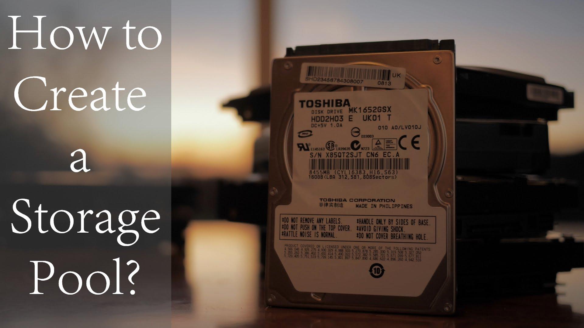 How to Configure Storage Pool on