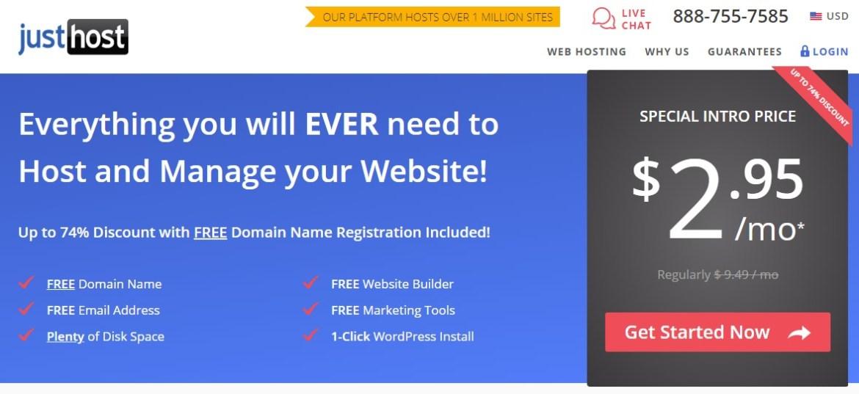 just host 2019 web hosting