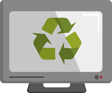 computer recycling illustration