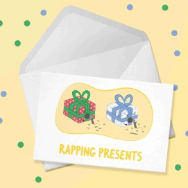 rapping presents card