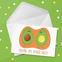 avocado card design