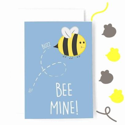 bee mine card simple