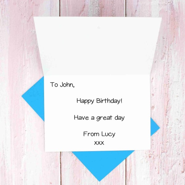 Blue envelope message example