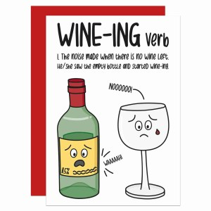 Graduation Card, Funny Pun Card, Card for Wine Lover, Definition Card, Dictionary Card, TePe Creations, Confetti Card, Funny Birthday Card, Congratulations Card, Blank Greetings Card, Card for Friend, Card for Mum, Mothers Day Card