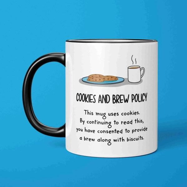 Funny Pun Mug, Cookie Policy Mug, Data Protection Mug, GDPR Data Mug, IT Nerd Birthday, Mug for Geek, Computer Lover Mug, TeePee Creations, Web Designer Present, Funny Gift for Work, Cookies and Brew Pun, Internet Pun Mug, Mug for Colleague