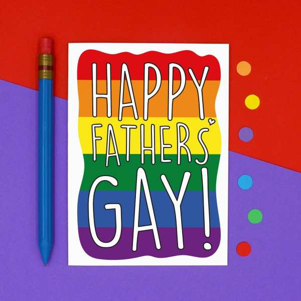 Funny Pun Card, TeePee Creations, Confetti Card, Gay Fathers Day Card, Funny Fathers Day, LGBTQ Fathers Day, Pride Dad Card, Homosexual Card, Pride Rainbow Card, Pride Flag Card, Card for Dad, Happy Fathers Gay, Card for Stepdad