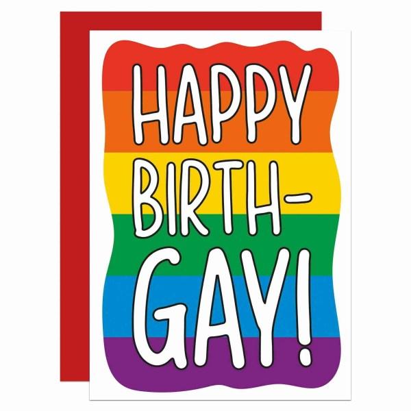 Funny Pun Card, TeePee Creations, Confetti Card, Gay Birthday Card, Funny Birthday Card, LGBTQ Birthday Card, Pride Birthday Card, Homosexual Card, Pride Rainbow Card, Pride Flag Card, Card for Lesbian, Lesbian Birthday, LGBT Birthday Card