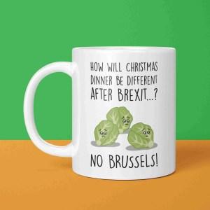Brexit Christmas, Funny Christmas Mug, Brussel Sprouts Pun, TeePee Creations, Christmas Present, Funny Christmas Gift, Theresa May Mug, Boris Johnson Mug, Funny Holidays Gift, EU Joke Gift, European Union, Confetti Card, Political Christmas