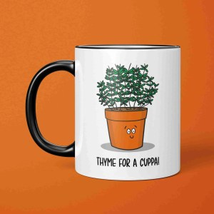 Funny Pun Mug, Thyme Pun Mug, Tea Lover Gift, Coffee Lover Gift, Yorkshire Slang, Northern Present, Brew Pun Mug, Christmas Present, Birthday Present, Housewarming Gift, TeePee Creations, Herb Pun Mug, Gift for Chef