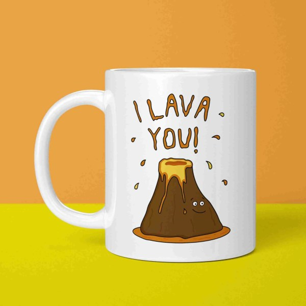 Funny Pun Mug, Lava Pun Mug, Tea Lover Gift, Coffee Lover Gift, I Lava You Pun, TeePee Creations, Volcano Pun, Valentines Day Gift, Anniversary Gift, I Love You Present, Gift for Boyfriend, Gift for Girlfriend, Geography Lover