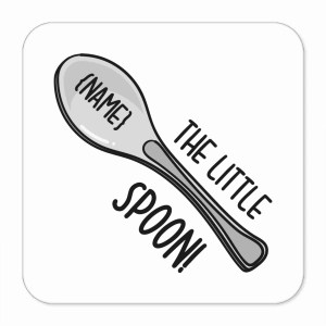 Funny Pun Gift, TeePee Creations, Little Spoon Coaster, Gift for Husband, Gift for Wife, Gift for Girlfriend, Gift for Boyfriend, Anniversary Present, Wedding Present, New Home Present, Housewarming Gift, Valentines Day Gift, Spooning Gift