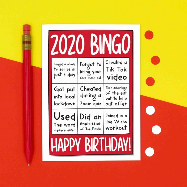 Funny Pun Card, TeePee Creations, Confetti Card, 2020 Bingo Card, Zoom Quiz, Social Distancing, Face Mask Card, Joe Exotic Card, Eat Out To Help Out, Joe Wicks Workout, Unprecedented Times, Local Lockdown, Tik Tok Dance