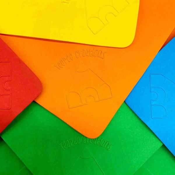 teepee creations assorted embossed envelopes