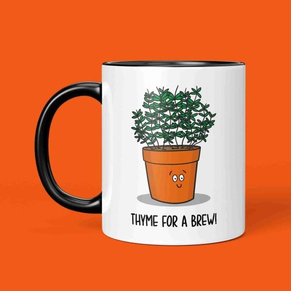 Funny Pun Mug Thyme Tea Gift Coffee Yorkshire Northern Cuppa Christmas Manchester Newcastle Birthday Geordie Housewarming TeePee Creations Herb Chef Cook Fun Joke