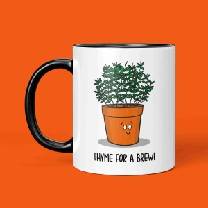 Funny Pun Mug Thyme Tea Gift Coffee Yorkshire Northern Cuppa Christmas Manchester Newcastle Birthday Geordie Housewarming TeePee Creations Herb Chef Cook Fun Joke