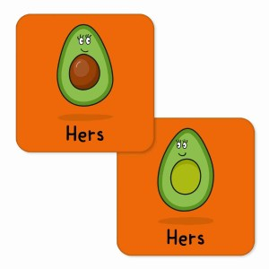 Valentines Day Anniversary Gift Pun Millennial Avocado Illustration Lesbian Girlfriend Gay Wife Other Half Gift TeePee Creations Couples Hers Present Food Humour Funny Fruit Cute Adorable Vegetarian Vegan Partner