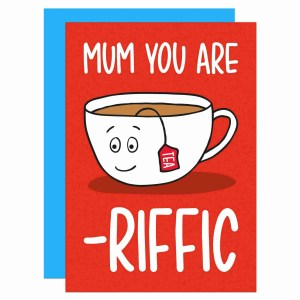 Tea Lover Card Funny Birthday Pun TeePee Creations Mothers Day You Are Terrific Confetti Gift Mum Cute Step Brew Present Adorable Positive Affirmation