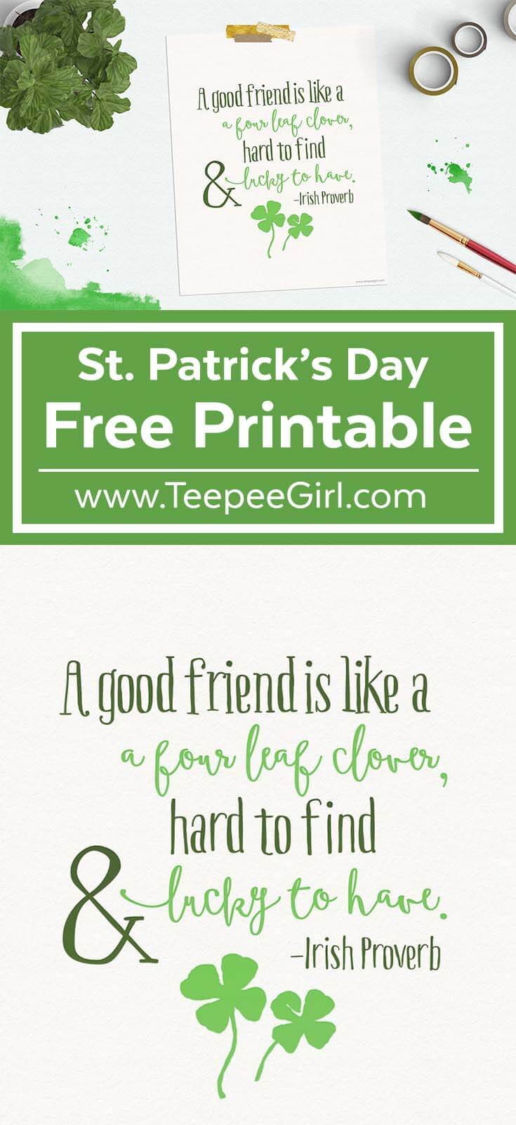 free st patricks day printable