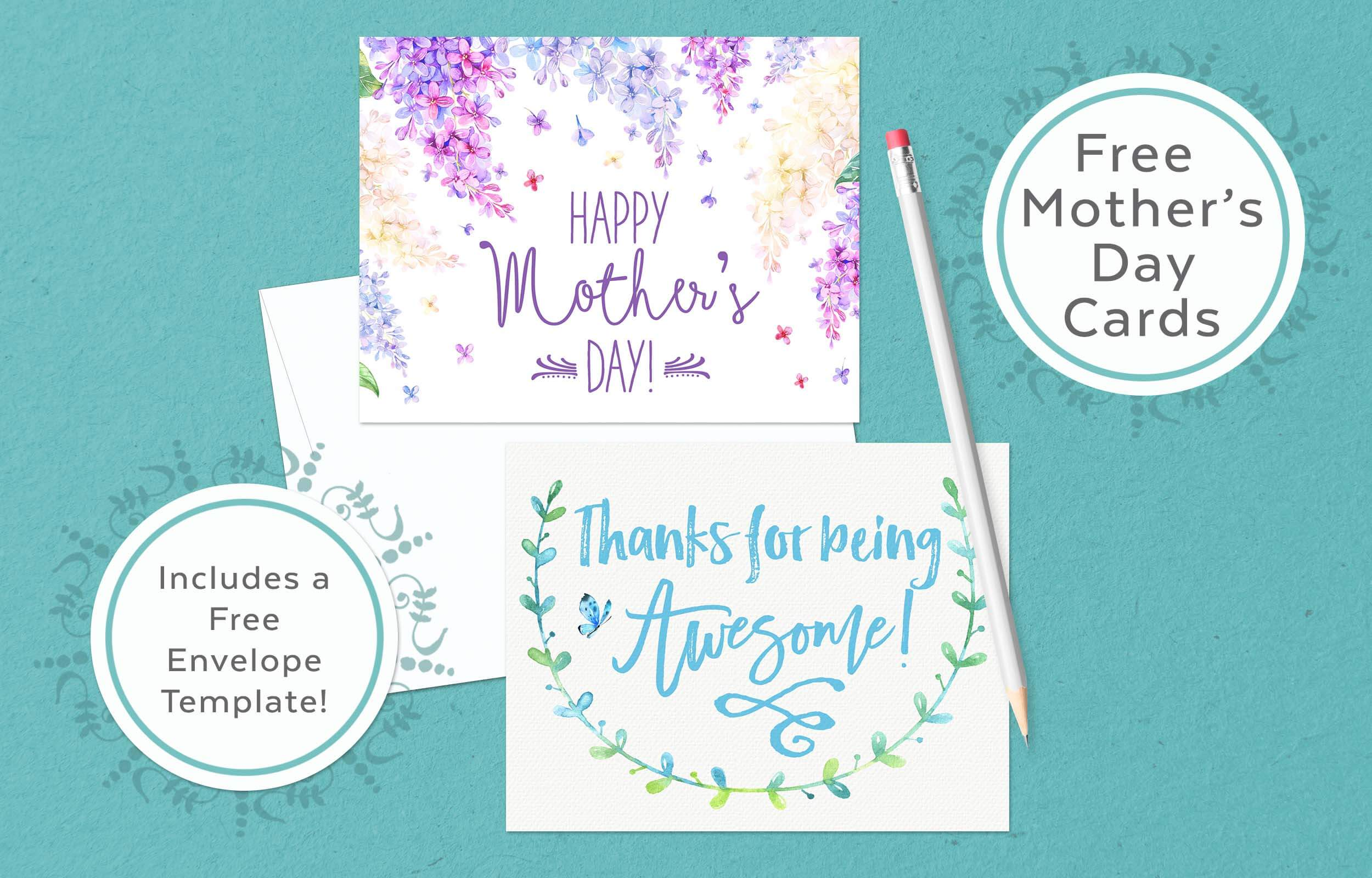Mother's Day Cards (& Envelope Template!)