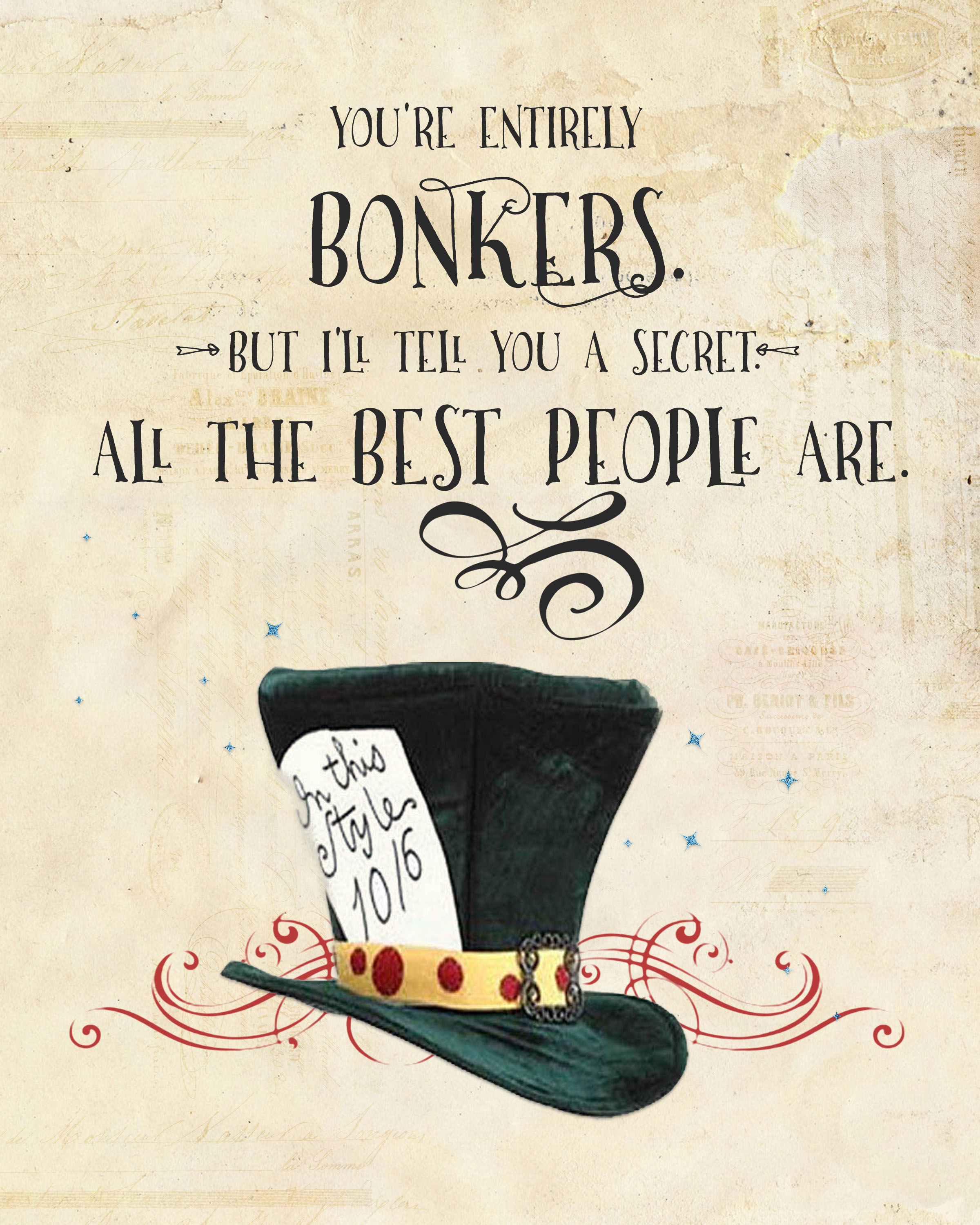 1384 Best Quotes Images On Pinterest: Alice In Wonderland Printables