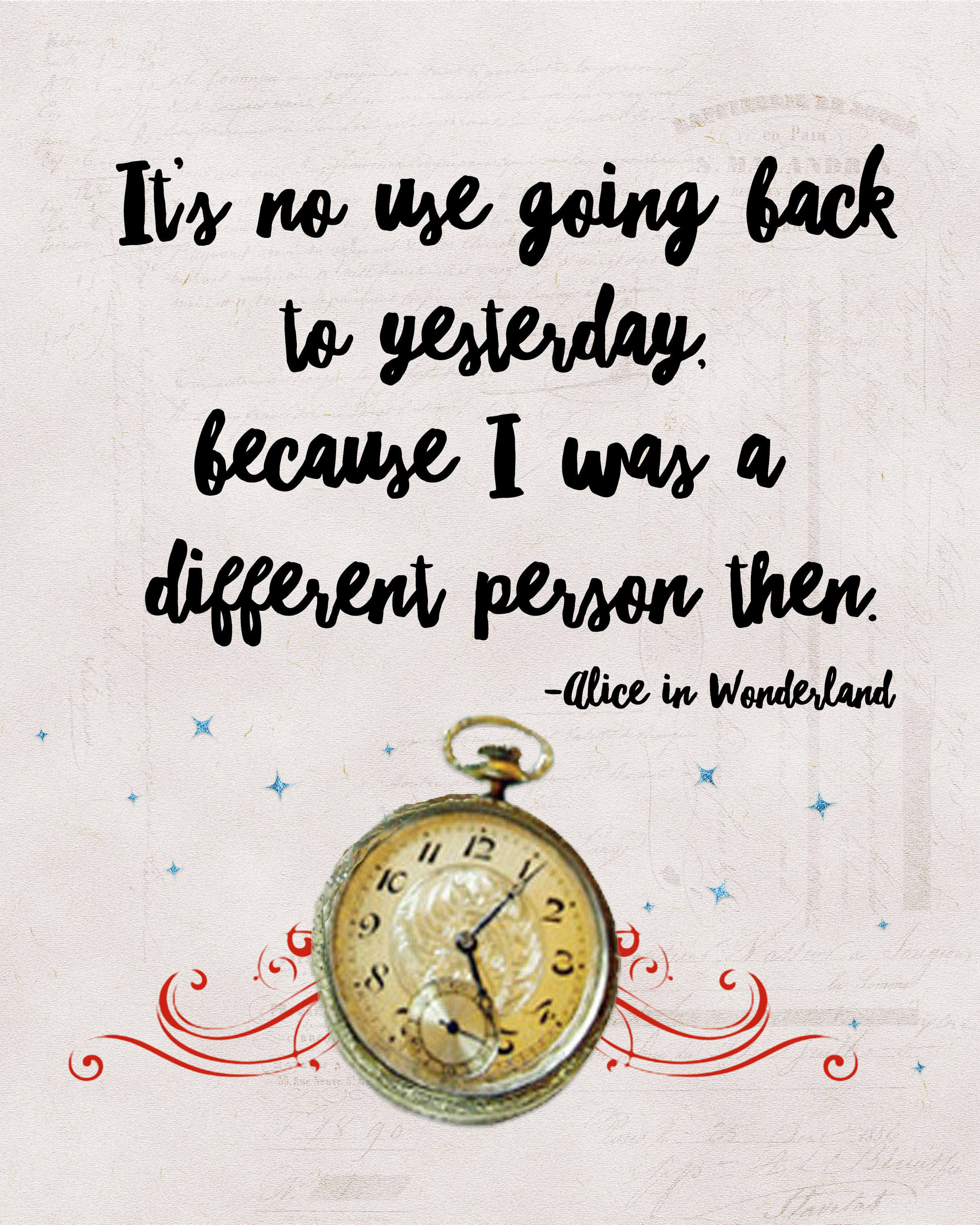 Disney Alice In Wonderland Quote: Alice In Wonderland Printables