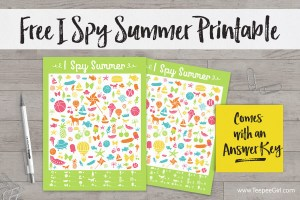 Free I Spy Summer Game
