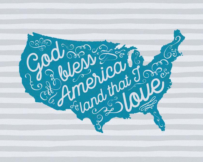 Free 4th of July printable! Use it to decorate your home for Independence Day or give it as a gift! www.TeepeeGirl.com