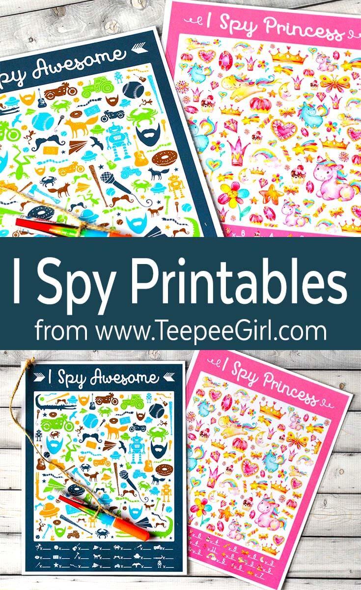 Free I Spy Games - Teepee Girl