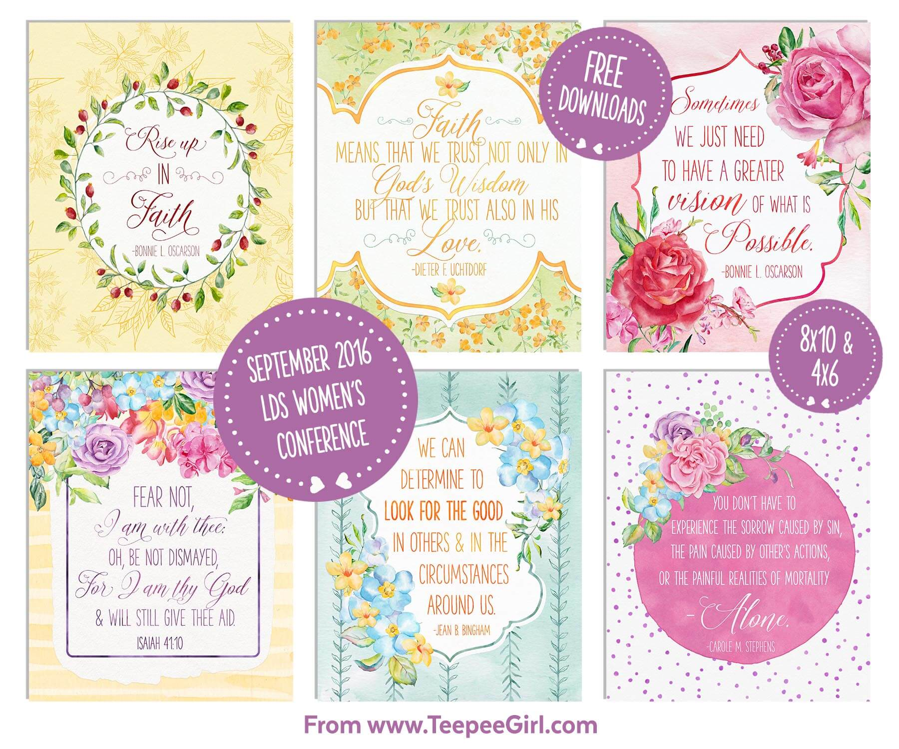 September 2016 LDS Women's Conference Quote Printables