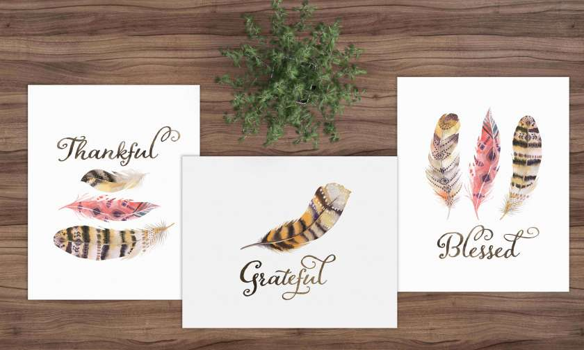 These FREE gratitude printables are the perfect decor during the holidays or any time you want to be reminded of your blessings! This is a set of three printables, and each printable come in size 8x10 & 5x7. These are perfect for gallery walls, gifts, and any other space that you want to fill with good vibes. Get it today at www.TeepeeGirl.com.