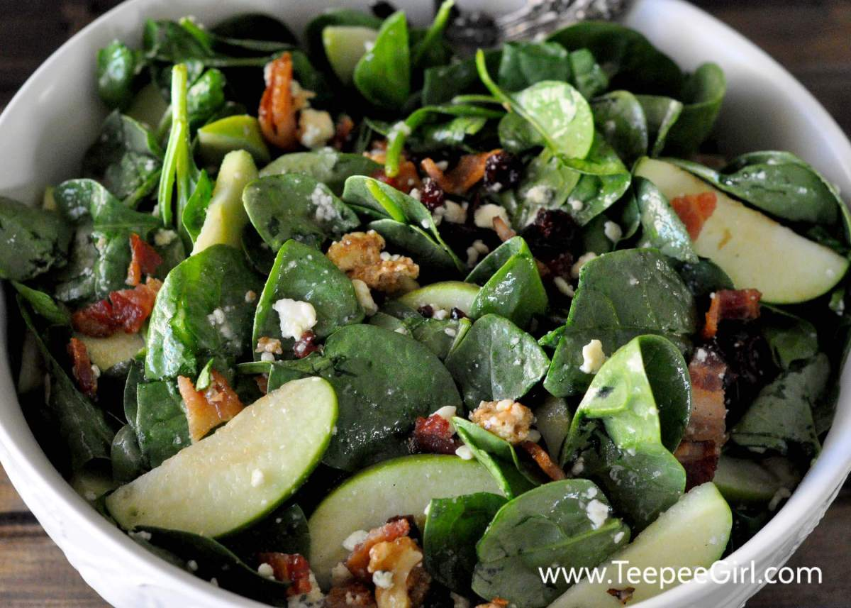 The Ultimate Fall Spinach Salad