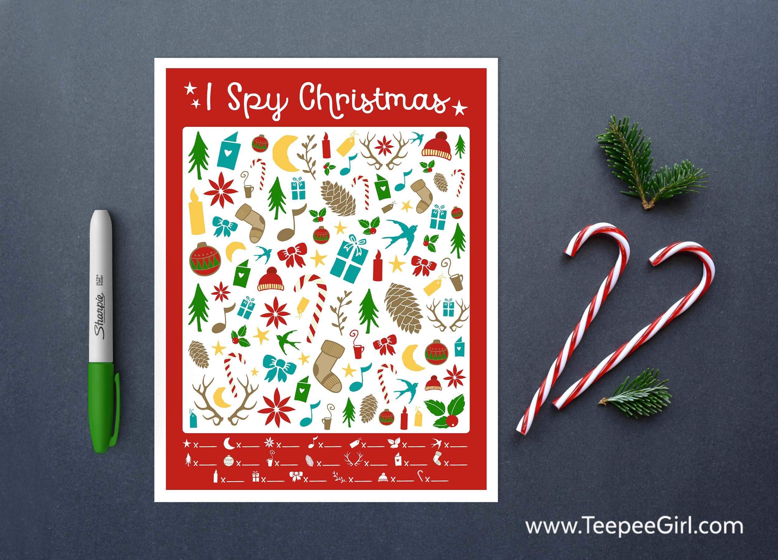 Free I Spy Christmas Printable Game