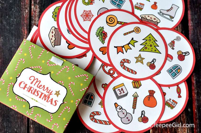 This free Christmas matching game is so fun! It's perfect for kids of all ages and even adults! And it even comes with a cute matching gift box :). Get it today at www.TeepeeGirl.com.