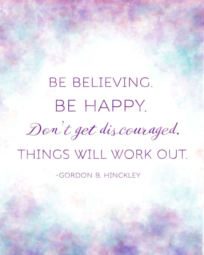 Get this Gordon B. Hinckley quote printable free at www.LittleLDSIdeas.net! It comes in two sizes and is makes the perfect handout for your Sunday Relief Society lesson!
