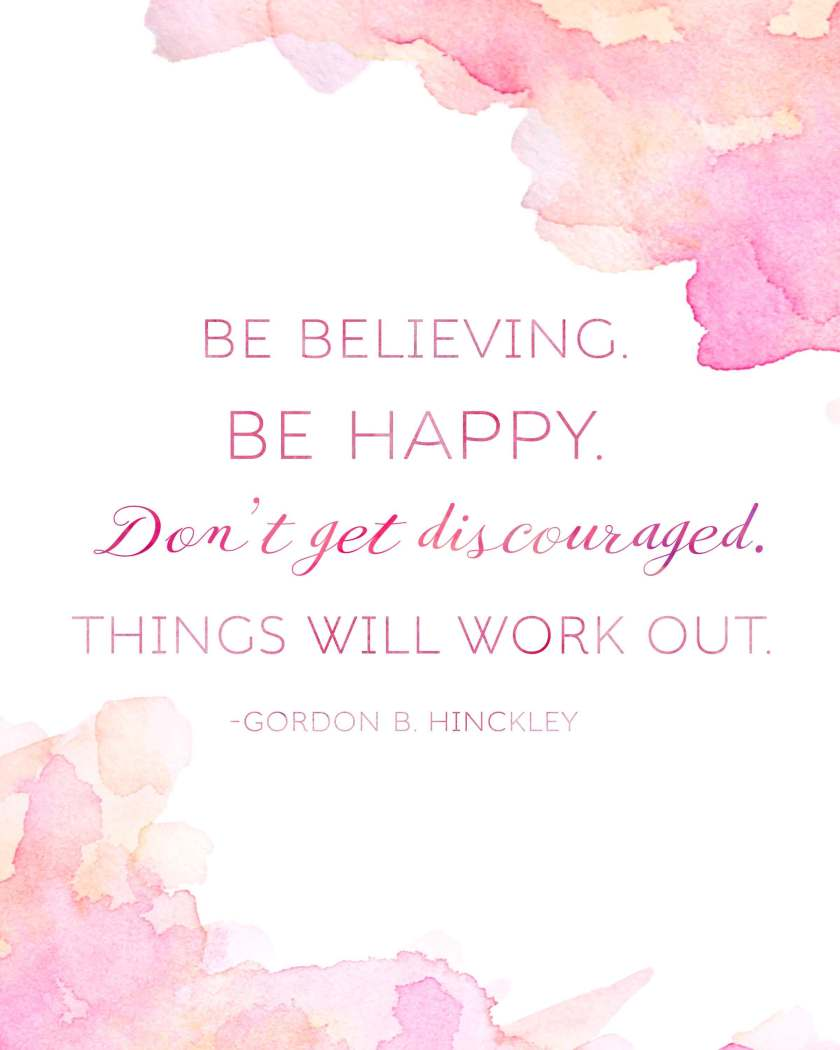 Get this Gordon B. Hinckley quote printable free at www.TeepeeGirl.com! It comes in two sizes and is makes the perfect handout for your Sunday Relief Society lesson!