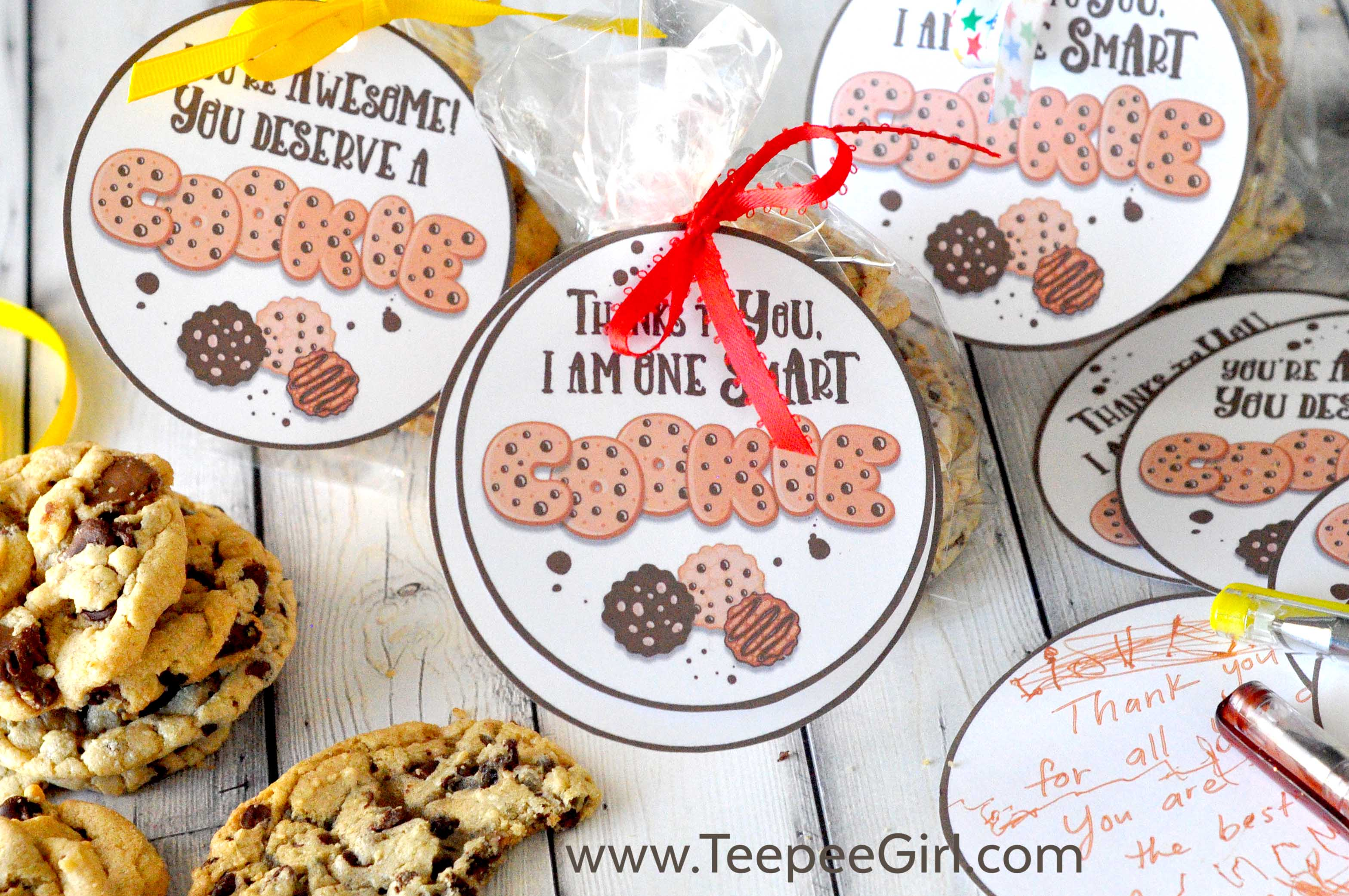Cookie Teacher Appreciation Gift Tags