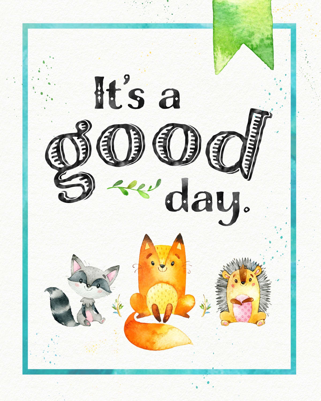 Free Woodland Animal Nursery Printable Poster Teepeegirl