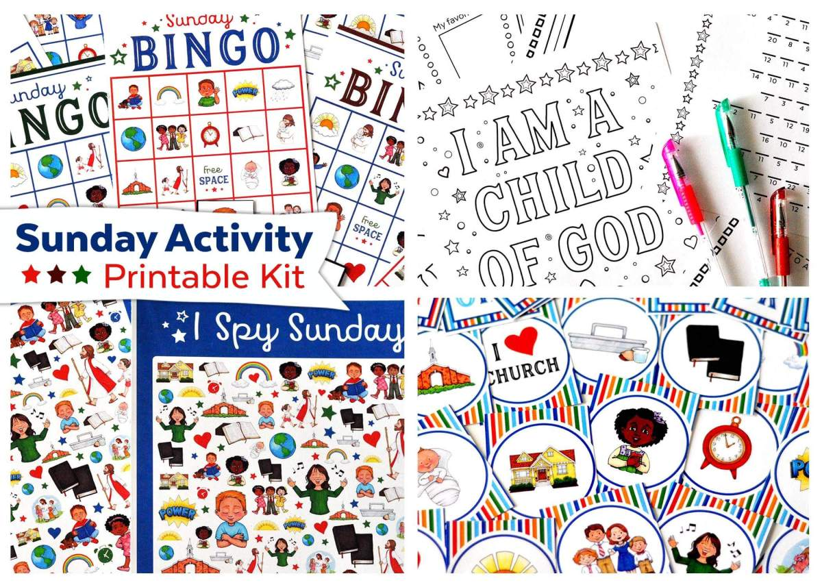 Sunday Activity Printable Kit {New in Shop!}