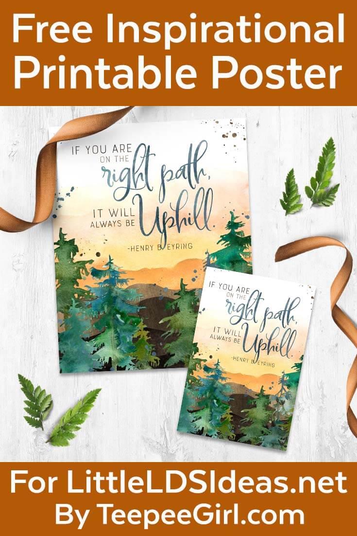 free inspirational printable poster www.LittleLDSIdeas.net