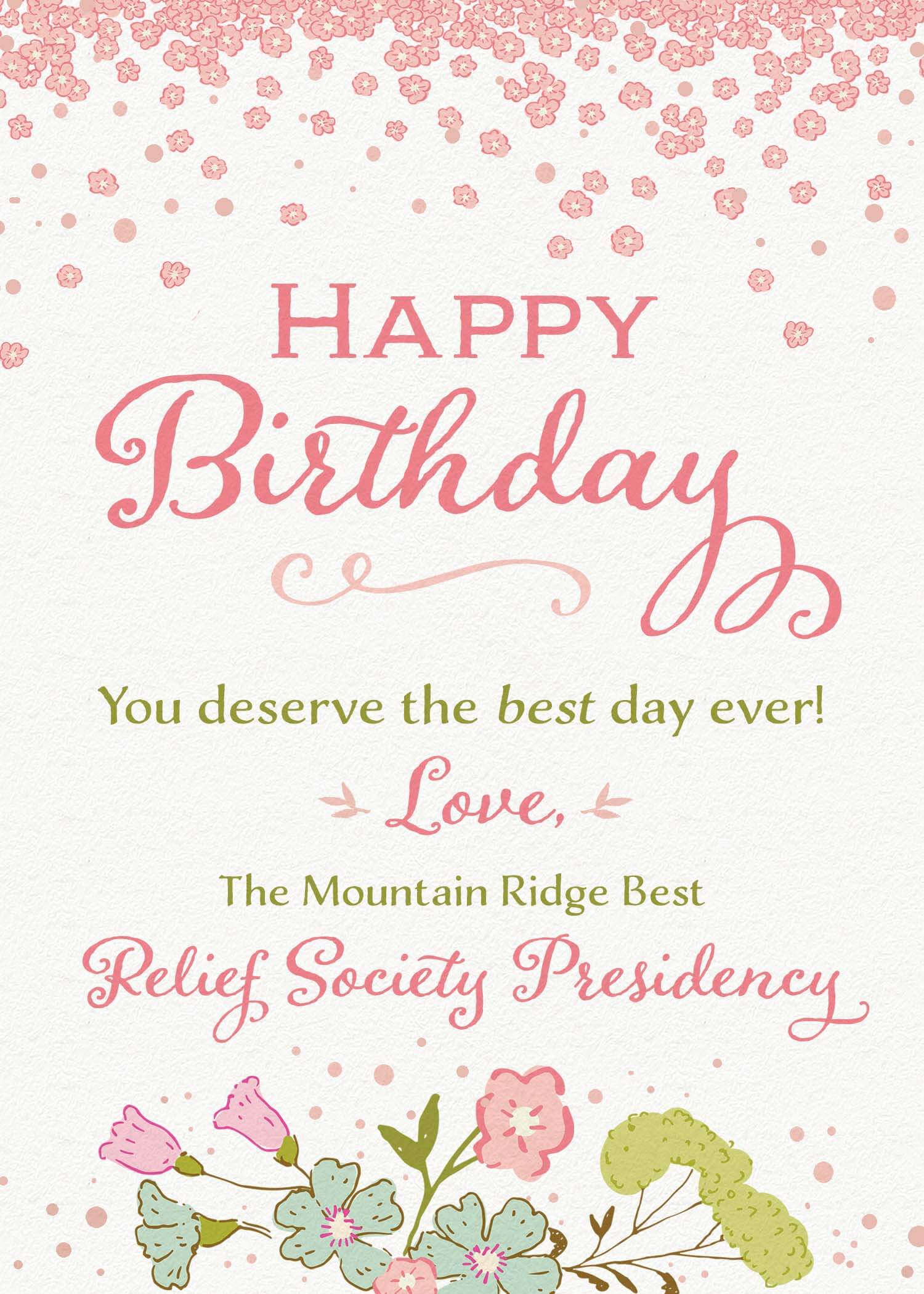 Custom Relief Society Birthday Card Teepee Girl