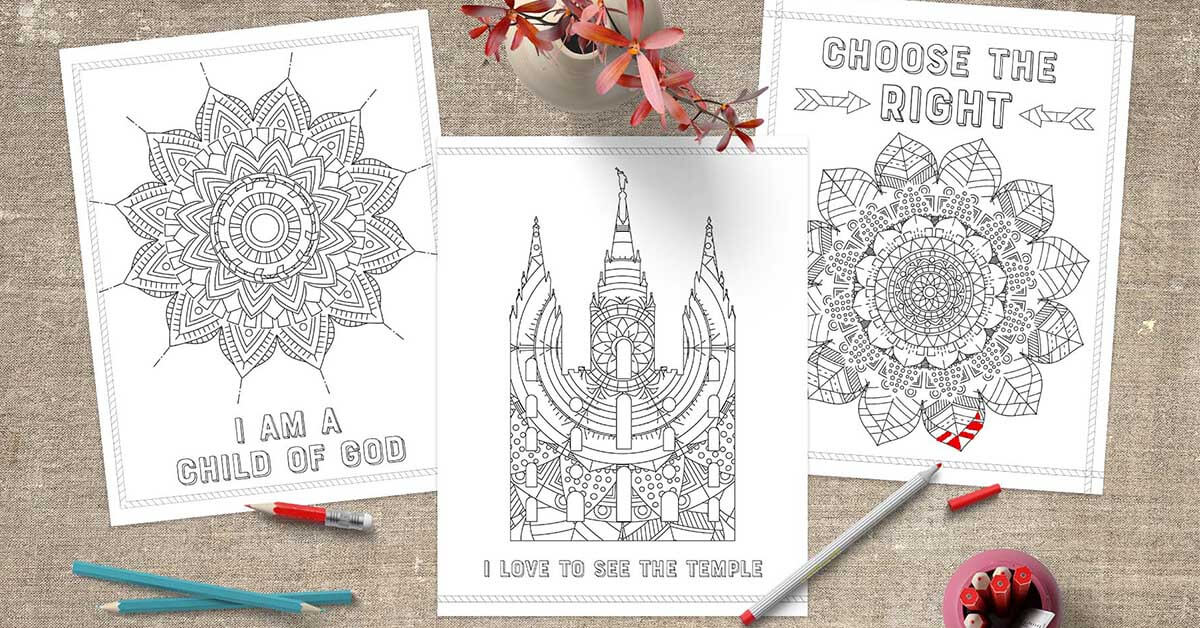 Free LDS Coloring Pages | www.TeepeeGirl.com