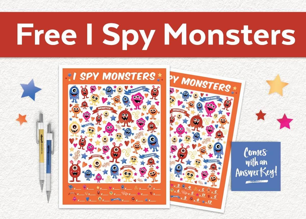 Free I Spy Monsters Printable Game