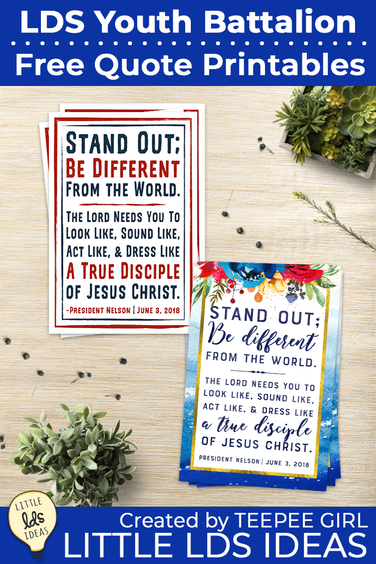 Free LDS Youth Battalion Quote Printable