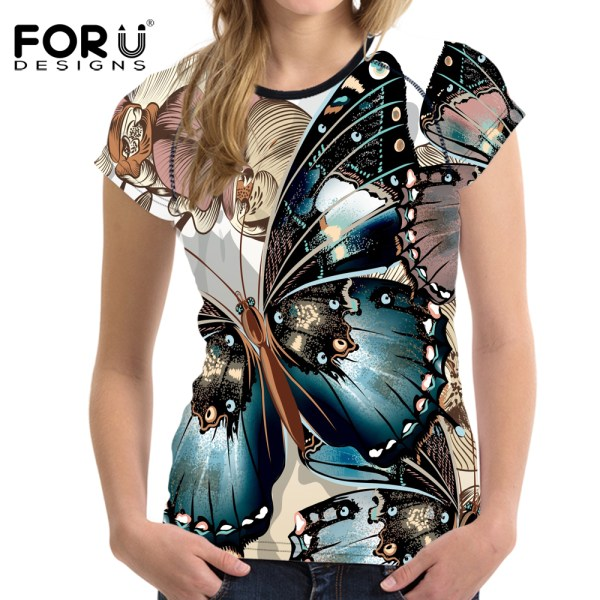 FORUDESIGNS-Novelty-Butterfly-Printed-Women-Short-Sleeved-T-Shirt-Female-Ladies-Soft-Comfort-Top-Tees-Fashion_25
