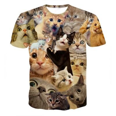Feitong-2018-Funny-Boys-Men-3D-Print-Summer-Short-Sleeve-Kitty-Cat-T-Shirts-Summer-Top_18