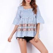 Summer-Women-Boho-Tops-tee-Shirt-Femme-2018-Casual-Striped-Half-Flare-Sleeve-Square-Neck-Ladies.jpg_220x220