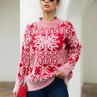 Winter Christmas Snowflake Sweater