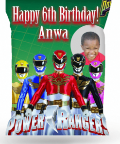 Personalized Power Ranger Chip Bags