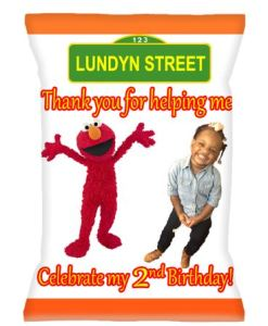 Personalized Sesame Street Chip Bags